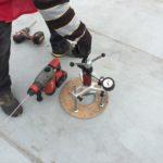 PVC vízszigetelés - szakítópróba