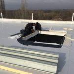 PVC szigetelés - kupolák szerelése